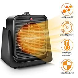 TRUSTECH 2 in 1 Portable Space Heater, Tip Over & Overheat P