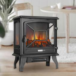 "VIVOHOME 110V 23"" Electric Fireplace Stove Space Heater Log"