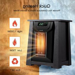 Space Heater for Indoor Use 12-Hour Timer Portable Remote Co