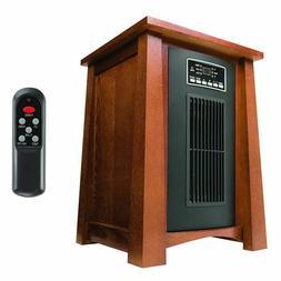 Haier 1500 Watt 5100 BTU Infrared Space Heater w/Real Oak Fi