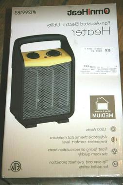 Omni Heat 1500-Watt Utility Fan Utility Electric Space Heate