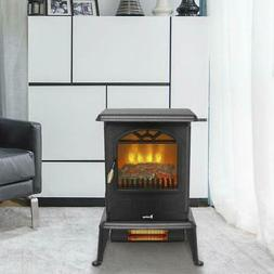 ZOKOP 1500W Free Standing Electric Fireplace Space Heater Fi
