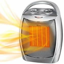 1500W / 750W Ceramic Space Heater with Overheat Protection &