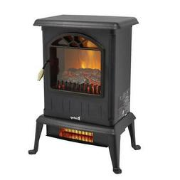 1500W Electric Fireplace Space Heater FreeStanding Fire Flam