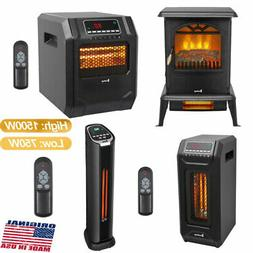 1500W Infrared Space Heater Electric 3D Flame Effect Fire St