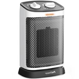 Pro Breeze 1500W Mini Oscillating Ceramic Space Heater with