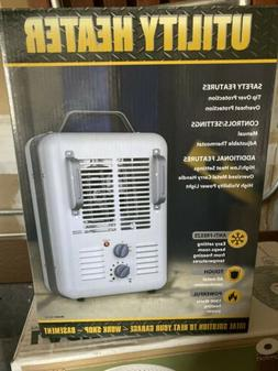 1500W PORTABLE ELECTRIC UTILITY HEATER Thermostat Home Fan F