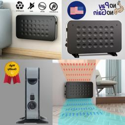 1500W Quiet Electric Large Space Heater With Wall Mount & St