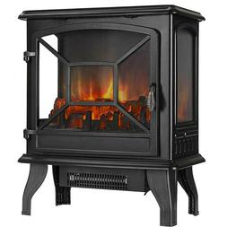 "VIVOHOME 23"" Electric Fireplace Stove Space Heater w/ 3D Log"
