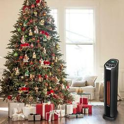 """24"""" Infrared Electric Fan Space Heater Tower Indoor 1500W Ti"""