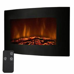 """35"""" Electric Fireplace Wall Mount Digital Flames Fire Room"""