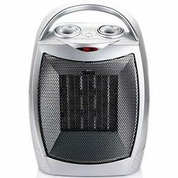 700W/1500W Ceramic Space Heater with Adjustable Thermostat P