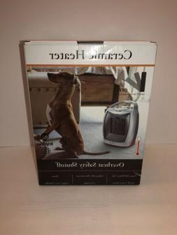 Brightown 905 1500W Ceramic Space Heater-Silver Overheat Saf