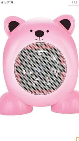 ADORABLE PINK TEDDY BEAR SPACE HEATER