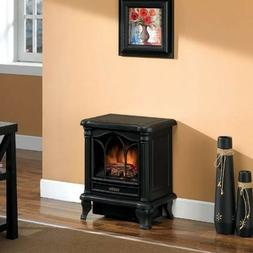 Black Freestanding Electric Stove Style Fireplace Space Heat