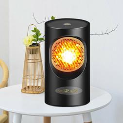 Black Mini Handy Space Heater Fan Winter Warm Bedroom Kitche