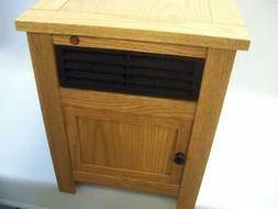 Simplicity Cozy Home Zone Space Heater Golden Oak Cabinet SC