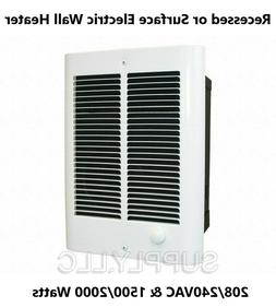Wall Mount Electric Fan Space Heater Thermostat 1500/2000W a