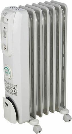 De'Longhi Oil-Filled Radiator Space Heater, Quiet 1500W, Adj