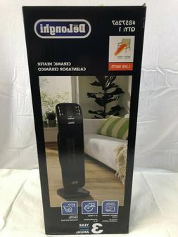 Delonghi 1500W Ceramic Tower Electric Space Heater w/Thermos