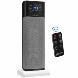 Electric Ceramic Tower Heater, 900/1500W Portable Oscillatin