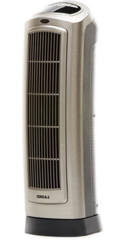 Electric Ceramic Tower Space Heater with Remote Control, 150