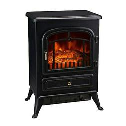 Electric Fireplace Wood Stove Black Space Heater 16 In W 150