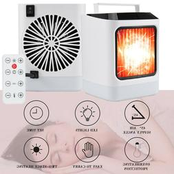 Electric Heater Desktop Space Heating Fan Home Office Indoor