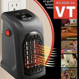 Electric Wall Heater Mini Portable Plug-in Personal Space Wa