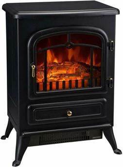 Electric Wood Stove Living Room Fireplace Log Flames Portabl