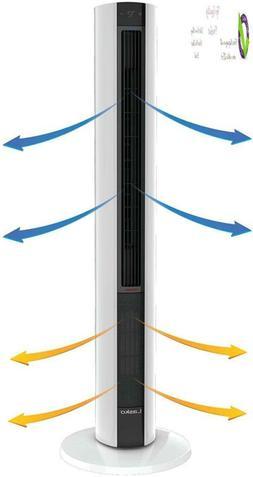 Lasko Fh500 Fan & Space Heater Combo Tower, 42 Inch, Black W