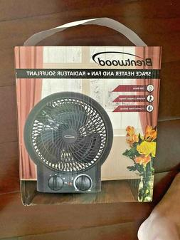 HEATER AND FAN Brentwood H-F304BK Portable Compact Space 150