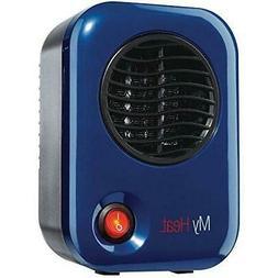 """Lasko Heating Space Heater, 3.8"""" x 4.3"""" x 6.1"""" tall, Blue"""