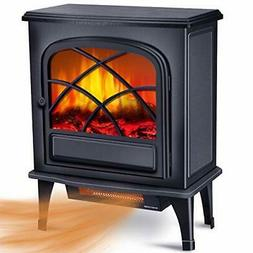 Infrared Fireplace Heater - Electric Space Heater for Large
