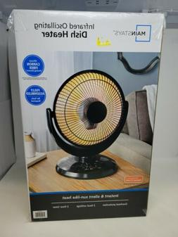Infrared Oscillating Dish Heater Space Heater by Mainstays