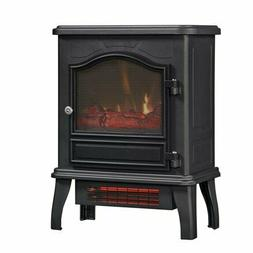 Chimney Free Infrared Quartz Electric Space Heater, Black, w