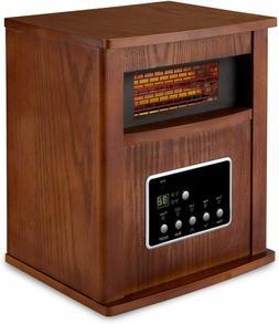 Limina Infrared Quartz Home Space Heater, Dark Walnut,1500-W