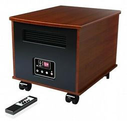 infrared space heater w faux natural wood