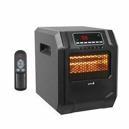 Ir Quartz Heater 1500W Remote Control Home Office Heating 4-