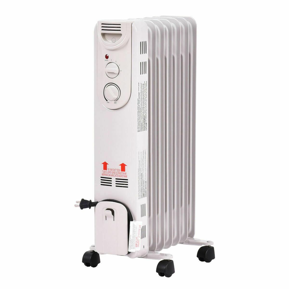1500 w electric oil filled radiator space