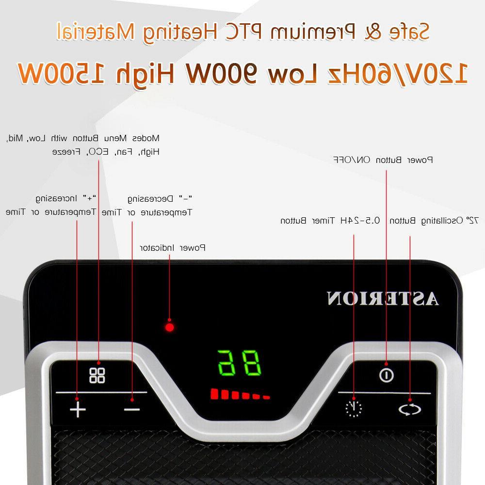 1500W Heater Heating Silent