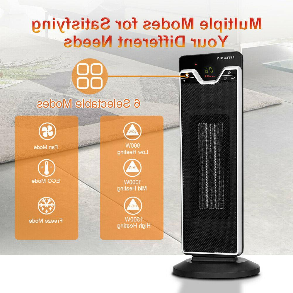 1500W Mini Electric Heater Home Office Heating Portable Fan Silent