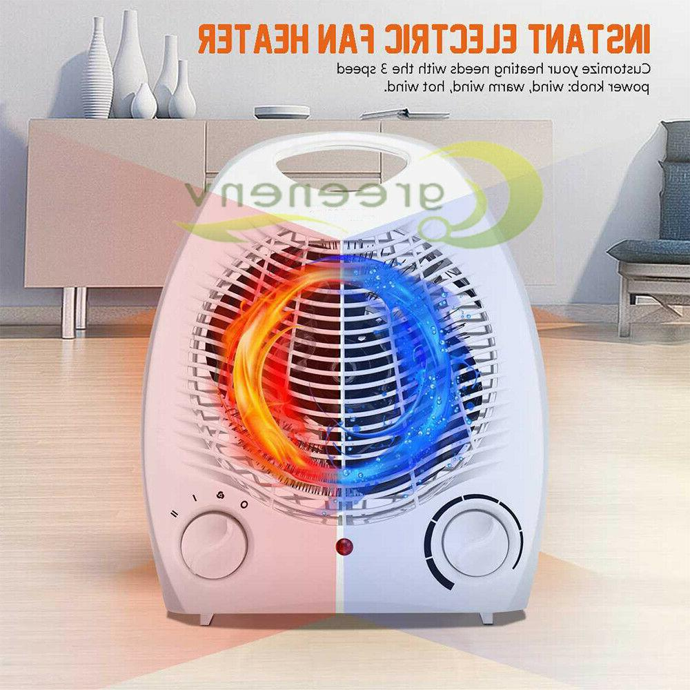 1500W Portable Heater 3 Settings Forced Adjustable