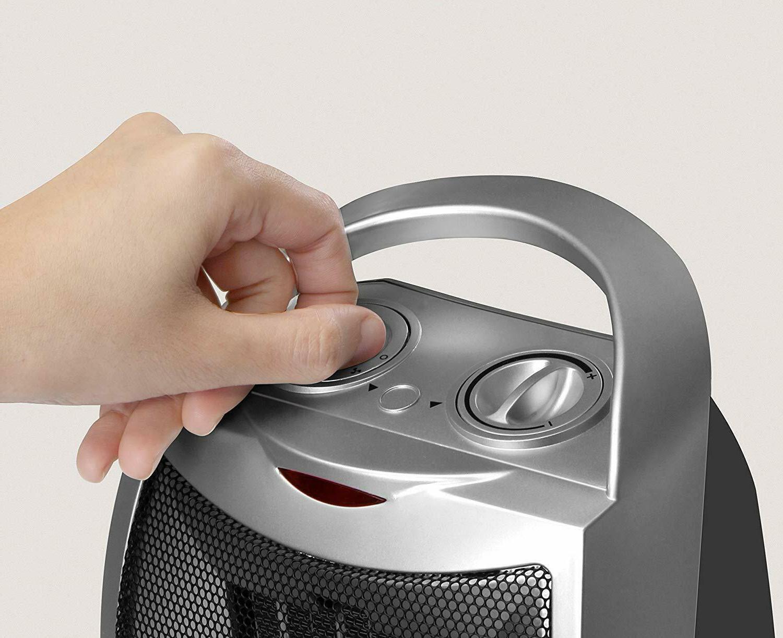 Ceramic Heater Adjustable Thermostat Utopia