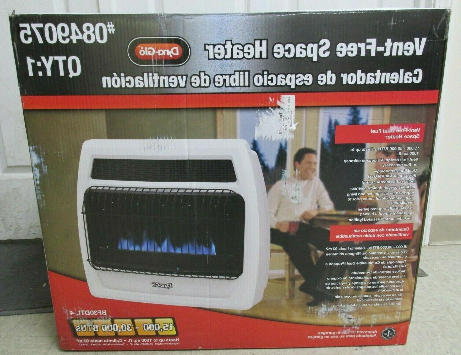 dyna glo bf30dtl 4 vent free space