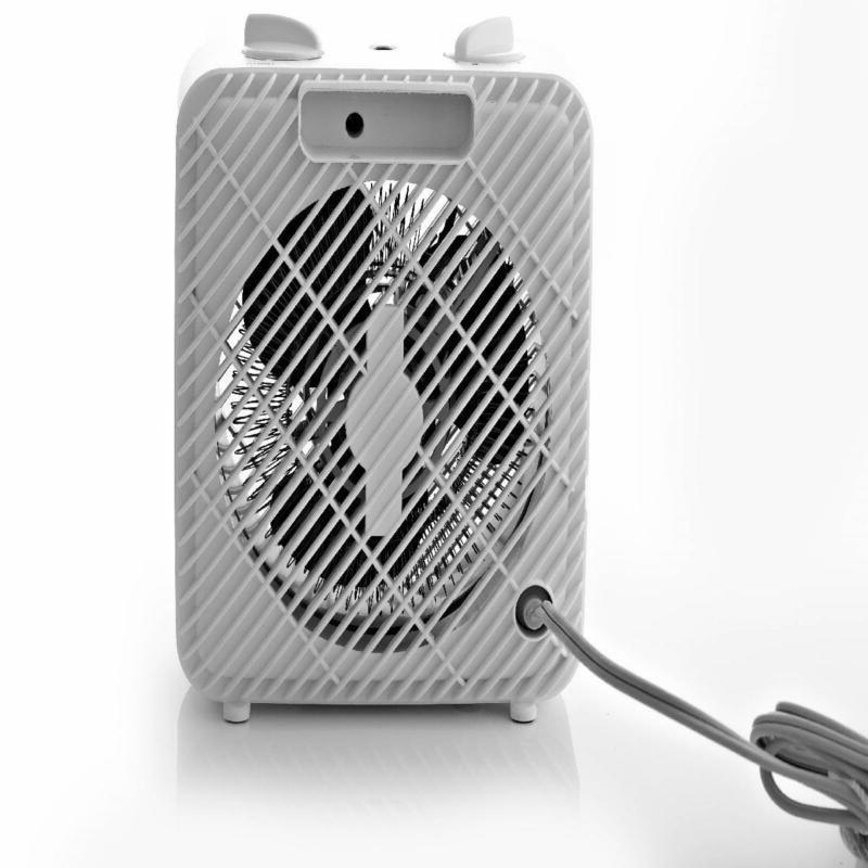 Electric Fan-Forced Space Heater 3-Speed Hf-1008w Cool Mode Quiet