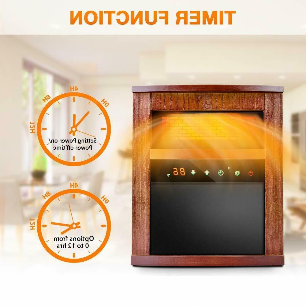 Air Electric Heater INFRARED w/ 3 Heat Remote
