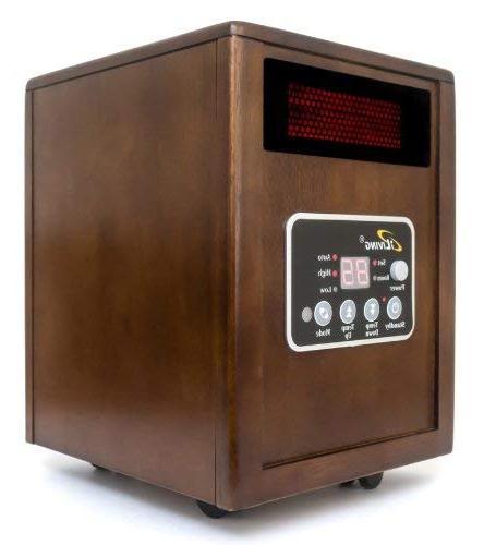 iLIVING Heater System, 1500W, Remote Control, Dark Wooden