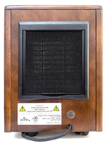 iLIVING Infrared Heater with Heating System, Dark Wooden