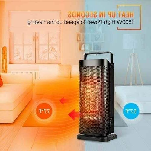 new ceramic tower heater space adjustable thermostat